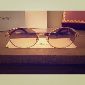 Cartier O.G Wood & Gold Frames